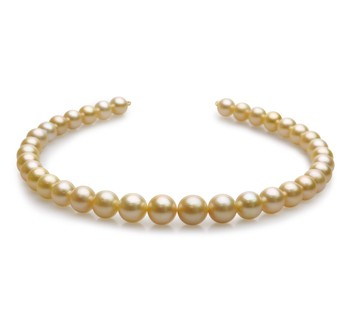 18-inch Gold 10-13.5mm AAA Quality South Sea 14K Yellow Gold Cultured Pearl Necklace