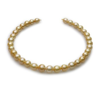 18-inch Gold 10-14mm Baroque Quality South Sea 14K Yellow Gold Cultured Pearl Necklace