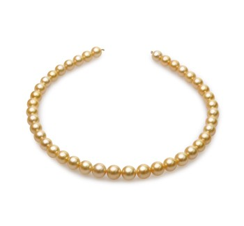 18-inch Gold 9-11.4mm AA Quality South Sea 14K Yellow Gold Cultured Pearl Necklace