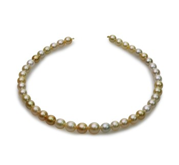18-inch Multicolour 8.2-12mm Baroque Quality South Sea 14K Yellow Gold Cultured Pearl Necklace