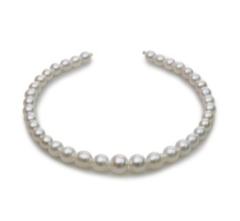 18-inch White 8.3-14mm Baroque Quality South Sea 14K Yellow Gold Cultured Pearl Necklace