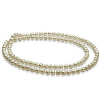 30 inches White 6-7mm AA Quality Freshwater Cultured Pearl Necklace