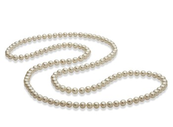 30 inches White 5-6mm AAA Quality Freshwater Cultured Pearl Necklace
