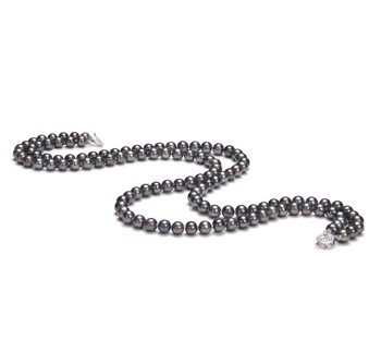Alexandra Black 6-7mm Double Strand AA Quality Freshwater Cultured Pearl Necklace