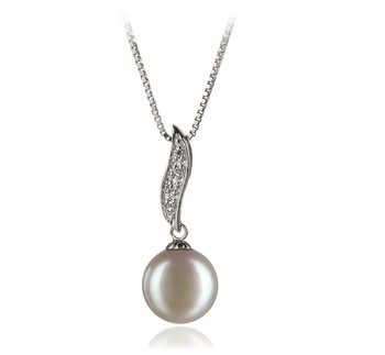 Alicia White 9-10mm AA Quality Freshwater 925 Sterling Silver Cultured Pearl Pendant