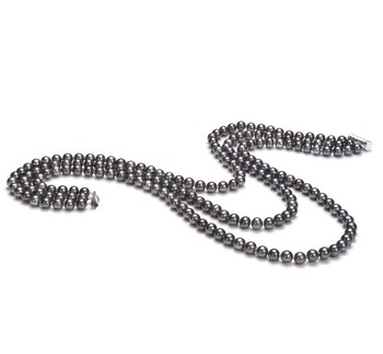 Aline Black 6-7mm Tripple Strand AA Quality Freshwater Cultured Pearl Necklace