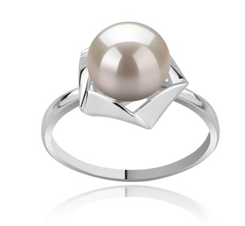 Anais White 8-9mm AAA Quality Freshwater 925 Sterling Silver Cultured Pearl Ring