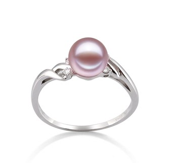 Andrea Lavender 6-7mm AAAA Quality Freshwater 14K White Gold Cultured Pearl Ring