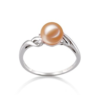 Andrea Pink 6-7mm AAAA Quality Freshwater 14K White Gold Cultured Pearl Ring