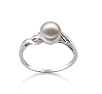Andrea White 6-7mm AAAA Quality Freshwater 14K White Gold Cultured Pearl Ring