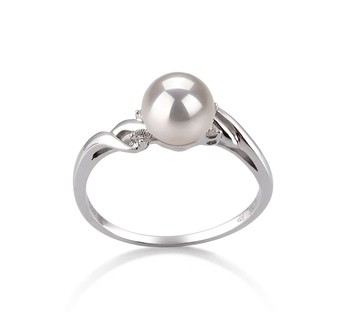 Andrea White 6-7mm AAA Quality Japanese Akoya 14K White Gold Cultured Pearl Ring