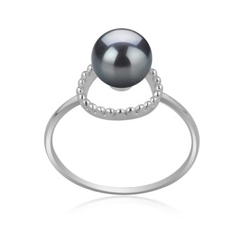 Andy Black 6-7mm AAAA Quality Freshwater 925 Sterling Silver Cultured Pearl Ring