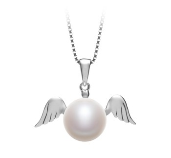 Angel White 9-10mm AA Quality Freshwater 925 Sterling Silver Cultured Pearl Pendant