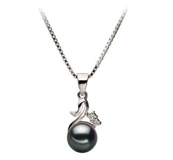 Ariana Black 6-7mm AA Quality Japanese Akoya 925 Sterling Silver Cultured Pearl Pendant