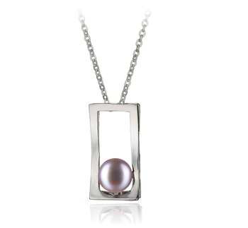 Athena Lavender 7-8mm AA Quality Freshwater White Bronze Cultured Pearl Pendant