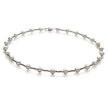 Atina White 6-7mm A Quality Freshwater Cultured Pearl Necklace