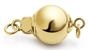 Ball - 14k Yellow Gold 14K Yellow Gold Cultured Pearl Clasp