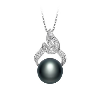 Bebra Black 10-11mm AAA Quality Freshwater 925 Sterling Silver Cultured Pearl Pendant