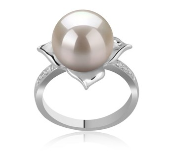 Billy White 10-11mm AAAA Quality Freshwater 925 Sterling Silver Cultured Pearl Ring