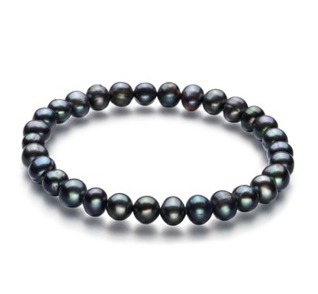 Bliss Black 6-7mm A Quality Freshwater Cultured Pearl Bracelet