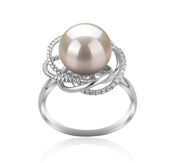 Bobbie White 9-10mm AAAA Quality Freshwater 925 Sterling Silver Cultured Pearl Ring