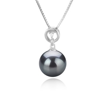 Bonita Black 10-11mm AAA Quality Tahitian 925 Sterling Silver Cultured Pearl Pendant