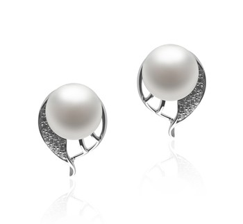 Carina White 7-8mm AA Quality Freshwater 925 Sterling Silver Cultured Pearl Earring Pair