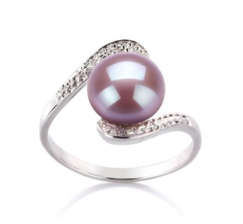 Chantel Lavender 9-10mm AA Quality Freshwater 925 Sterling Silver Cultured Pearl Ring