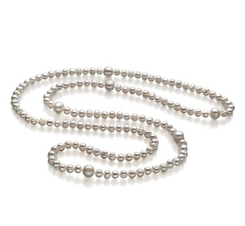 Chloe White 6-11mm A Quality Freshwater Cultured Pearl Necklace