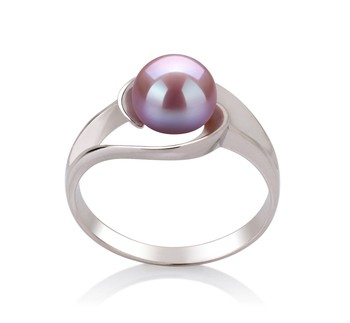 Clare Lavender 6-7mm AAA Quality Freshwater 925 Sterling Silver Cultured Pearl Ring