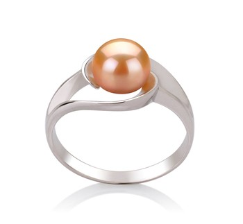 Clare Pink 6-7mm AAA Quality Freshwater 925 Sterling Silver Cultured Pearl Ring