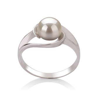 Clare White 6-7mm AAA Quality Freshwater 925 Sterling Silver Cultured Pearl Ring