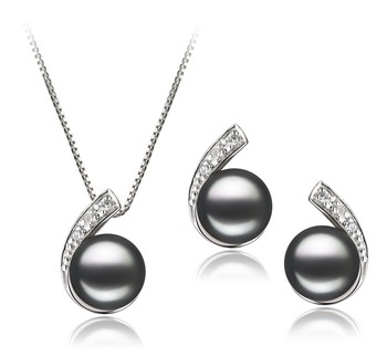 Claudia Black 7-8mm AA Quality Freshwater 925 Sterling Silver Cultured Pearl Set