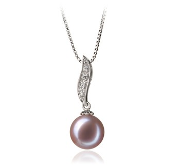 Clementina Lavender 9-10mm AAA Quality Freshwater 925 Sterling Silver Cultured Pearl Pendant