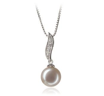 Clementina White 9-10mm AAA Quality Freshwater 925 Sterling Silver Cultured Pearl Pendant