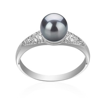 Cristy Black 6-7mm AAAA Quality Freshwater 925 Sterling Silver Cultured Pearl Ring