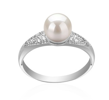 Cristy White 6-7mm AAAA Quality Freshwater 925 Sterling Silver Cultured Pearl Ring