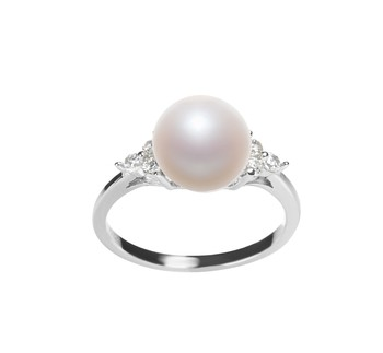Dacey White 8-9mm AAA Quality Freshwater 925 Sterling Silver Cultured Pearl Ring