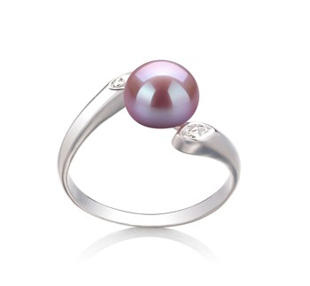 Dana Lavender 6-7mm AAA Quality Freshwater 925 Sterling Silver Cultured Pearl Ring