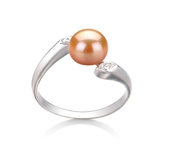 Dana Pink 6-7mm AAA Quality Freshwater 925 Sterling Silver Cultured Pearl Ring