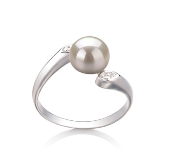 Dana White 6-7mm AAA Quality Freshwater 925 Sterling Silver Cultured Pearl Ring
