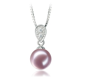Daria Lavender 7-8mm AAAA Quality Freshwater 925 Sterling Silver Cultured Pearl Pendant
