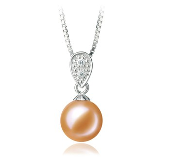 Daria Pink 7-8mm AAAA Quality Freshwater 925 Sterling Silver Cultured Pearl Pendant