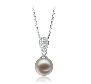 Daria White 7-8mm AAAA Quality Freshwater 925 Sterling Silver Cultured Pearl Pendant