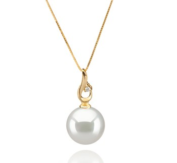Darlene White 10-11mm AAA Quality South Sea 14K Yellow Gold Cultured Pearl Pendant