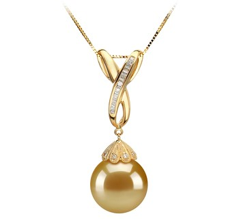 Edwina Gold 12-13mm AAA Quality South Sea 14K Yellow Gold Cultured Pearl Pendant