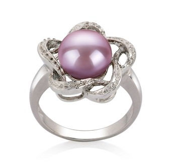 Fiona Lavender 9-10mm AA Quality Freshwater 925 Sterling Silver Cultured Pearl Ring