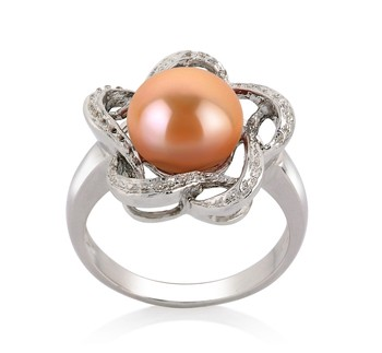 Fiona Pink 9-10mm AA Quality Freshwater 925 Sterling Silver Cultured Pearl Ring