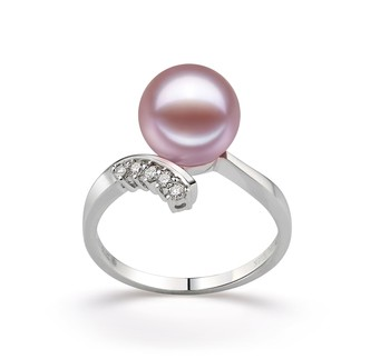 Grace Lavender 9-10mm AAAA Quality Freshwater 14K White Gold Cultured Pearl Ring