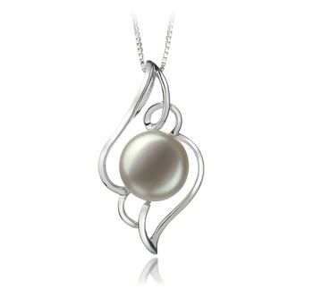 Hannah White 12-13mm AA Quality Freshwater 925 Sterling Silver Cultured Pearl Pendant